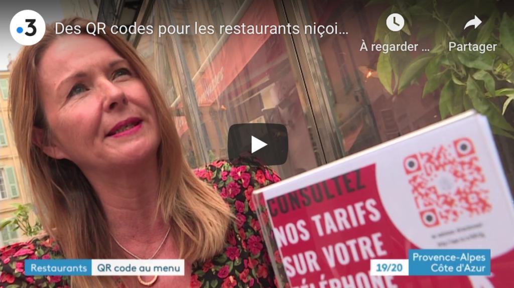 Reportage France 3 PACA sur le QR Code